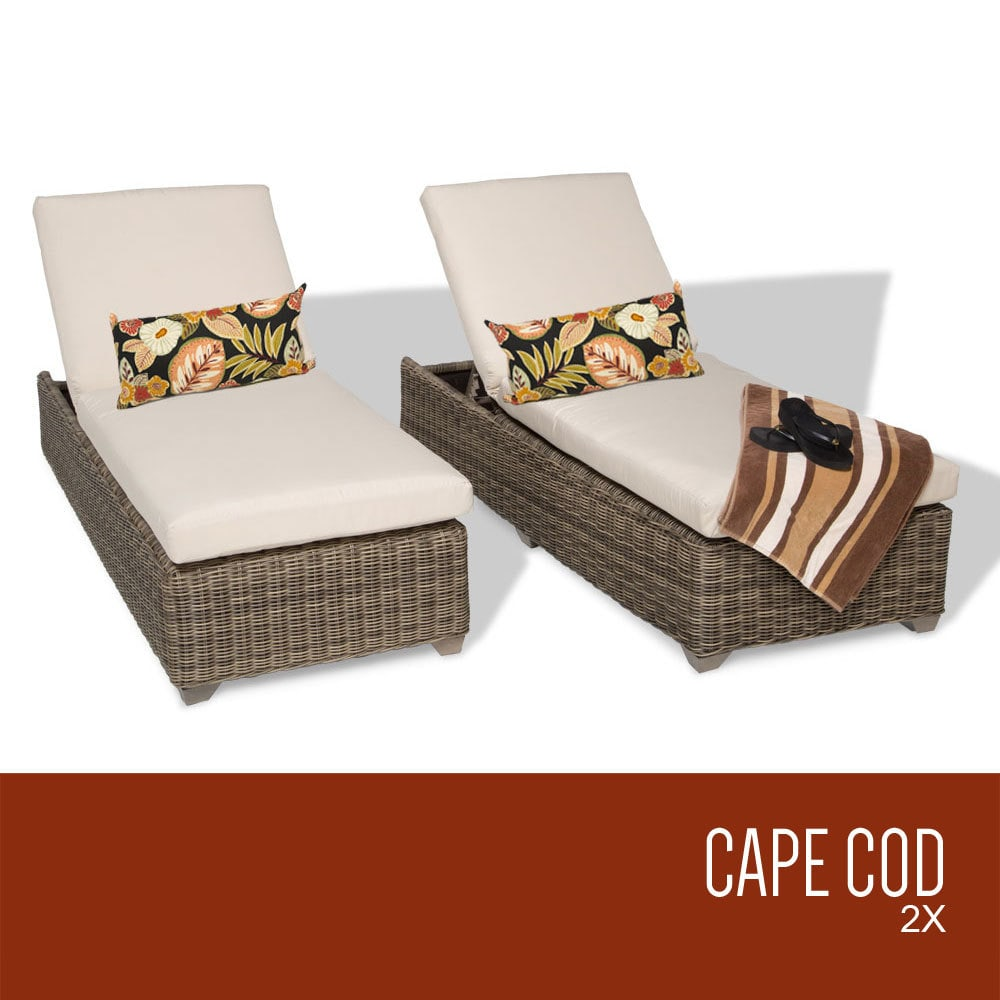 TK Classics Cape Cod Collection Chaise Set Of 2 Outdoor