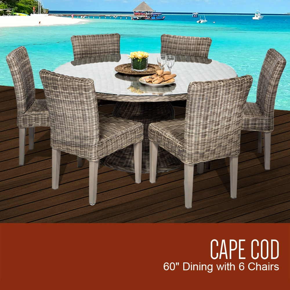 """TK Classics Cape Cod Collection 60"""" Outdoor Patio Dining"""