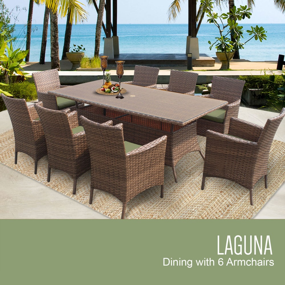 barbados patio wicker classics size tan pin piece furniture set outdoor tk