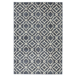 Mohawk Home Area Rugs Palladium Carved Tiles Denim 8 X10