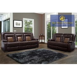 Best Master Furniture - Chocolate Brown Sofa