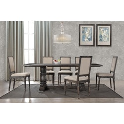 Best Master Furniture Smoked Grey 7PC Dining Set