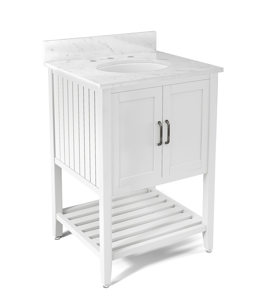 Alaterre Bennett Bath Vanity With 25 Marble Vanity Top Traditional