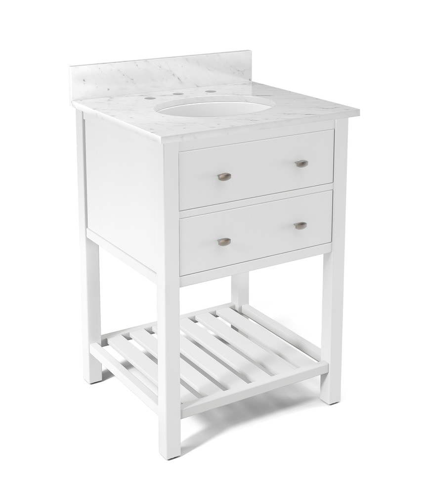 Alaterre Harrison Bath Vanity With 25 Marble Vanity Top Traditional