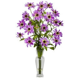 Nearly Natural - Cosmos w/Vase Silk Flower Arrangement