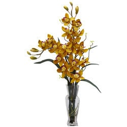 Nearly Natural - Cymbidium Silk Flower Arrangement