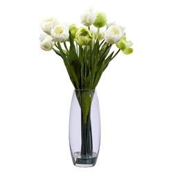 Nearly Natural - Tulip with Vase Silk Flower Arrangement
