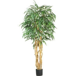 Nearly Natural - 6' Weeping Ficus Silk Tree