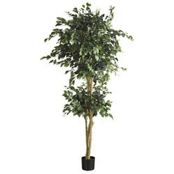 Nearly Natural - 6' Double Ball Ficus Silk Tree