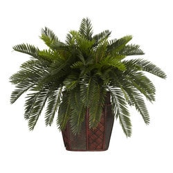 Nearly Natural - Double Cycas w/Vase Silk Plant