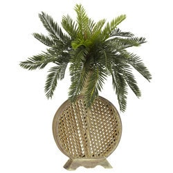 Nearly Natural - Cycas w/Decorative Vase Silk Plant