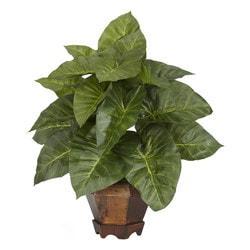 Nearly Natural - Taro w/Vase Silk Plant