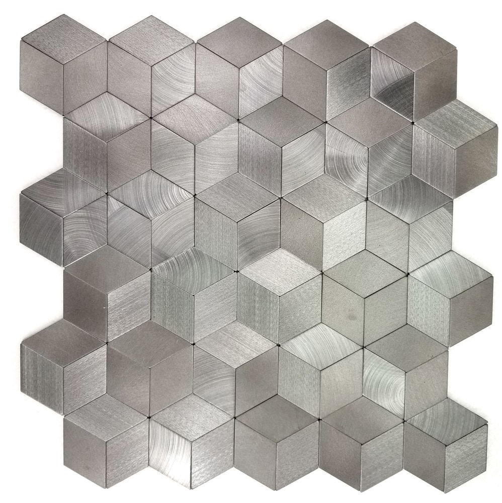 Abolos enchanted metals aluminum silver 3d hexagon peel and stick kaleido20mosaic2020silver5988ee5a53113 kaleido20mosaic2020silver5988ee5a53113 dailygadgetfo Gallery