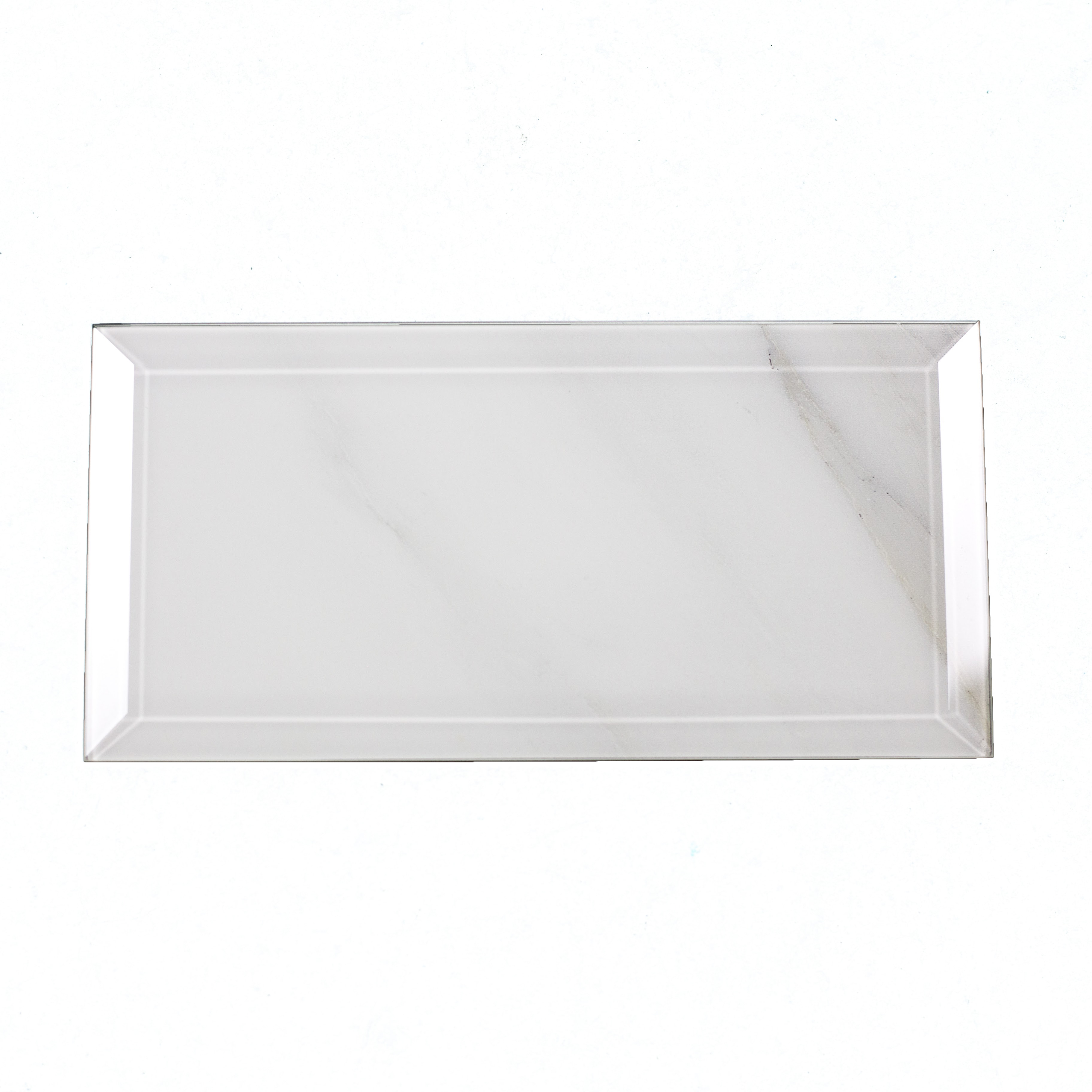 """Peel and Stick Calacatta Beveled Edge Glossy / 4""""x8"""" / Glossy Nature Collection 0"""