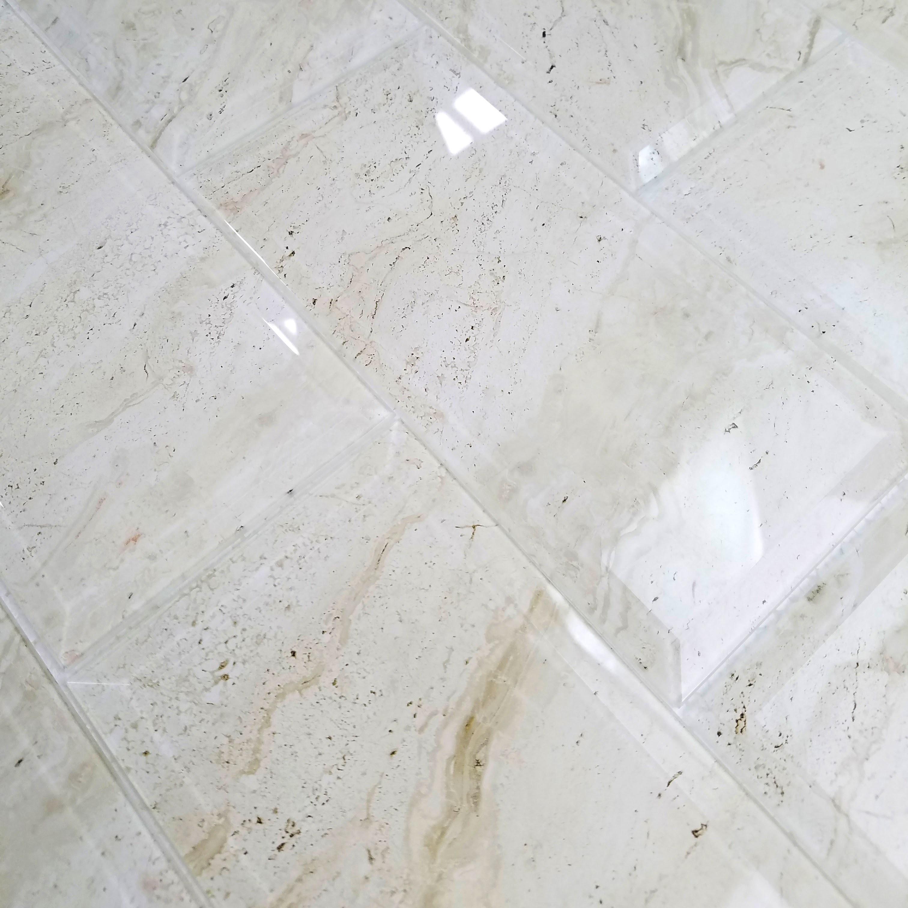 "Crema Marfil Beveled Edge Glossy / 4""x8"" / Glossy Nature Collection 0"