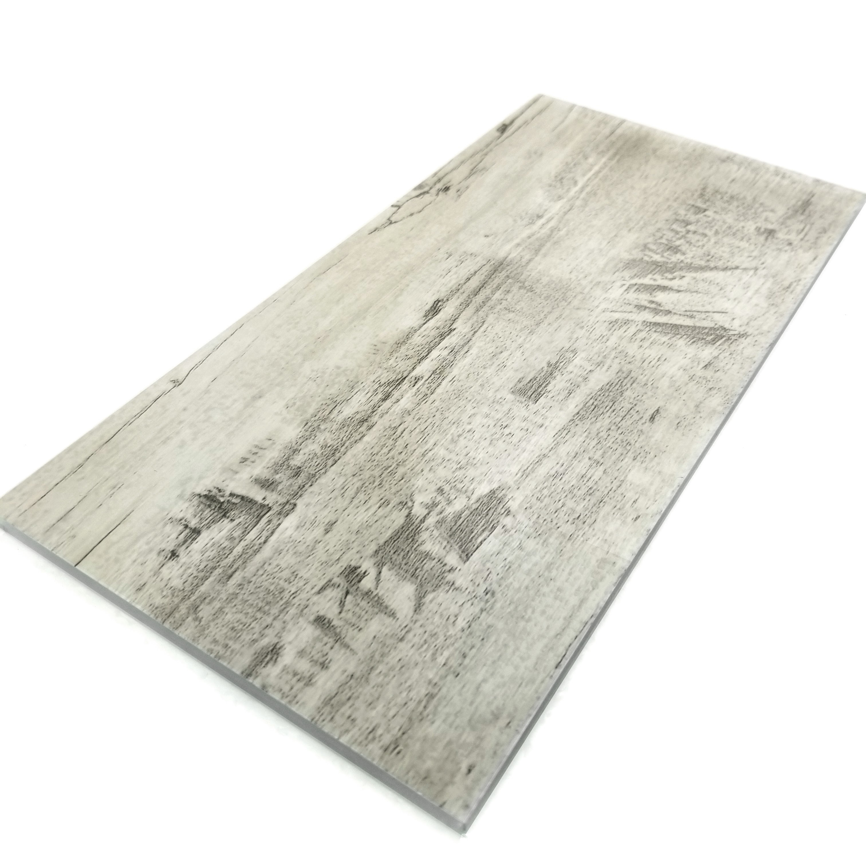 """Peel and Stick Birchwood Gray Straight Edge Glossy / 7""""x16"""" / Flat Nature Collection 0"""