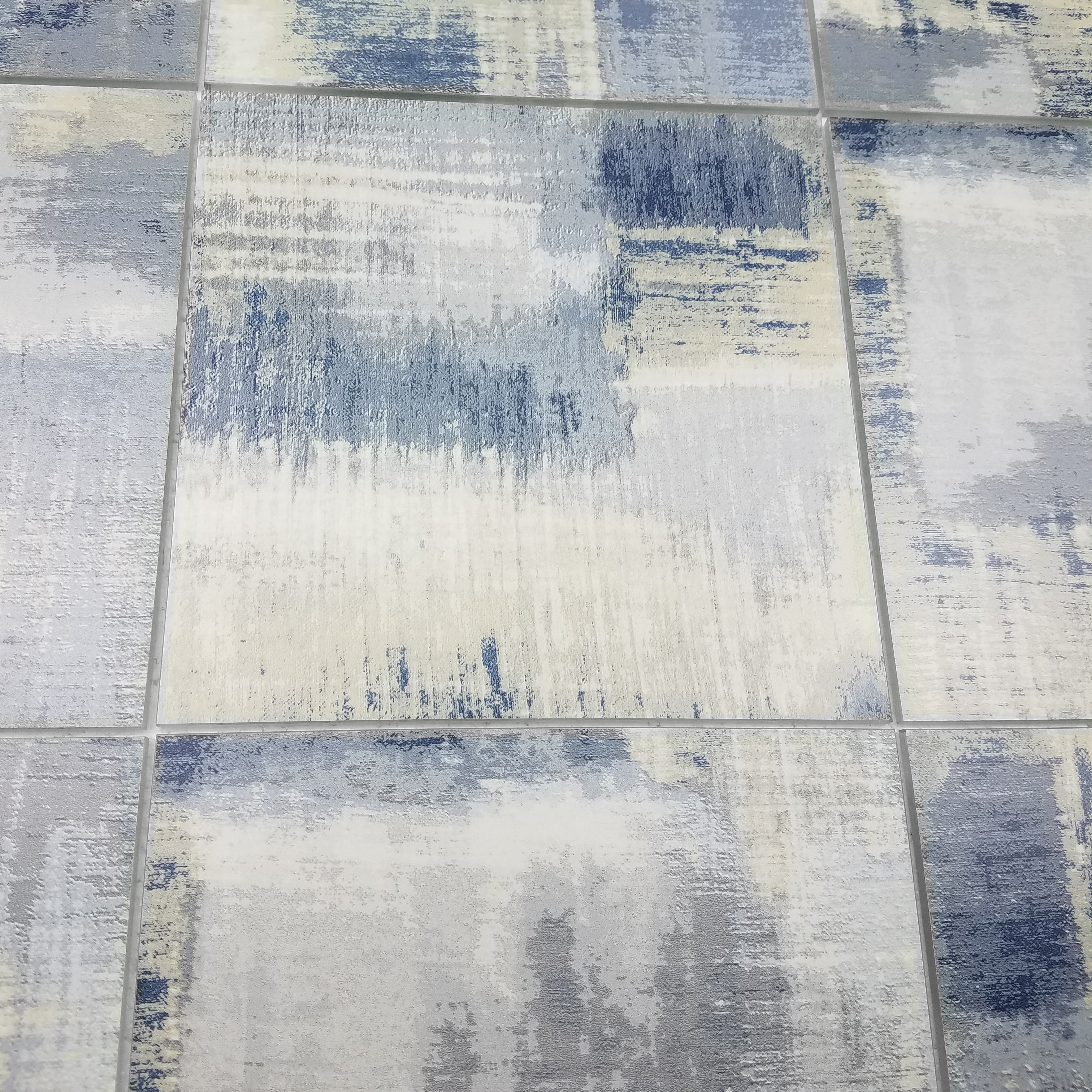 """Cement Blue Straight Edge Glossy / 8""""x8"""" / Flat Nature Collection 0"""