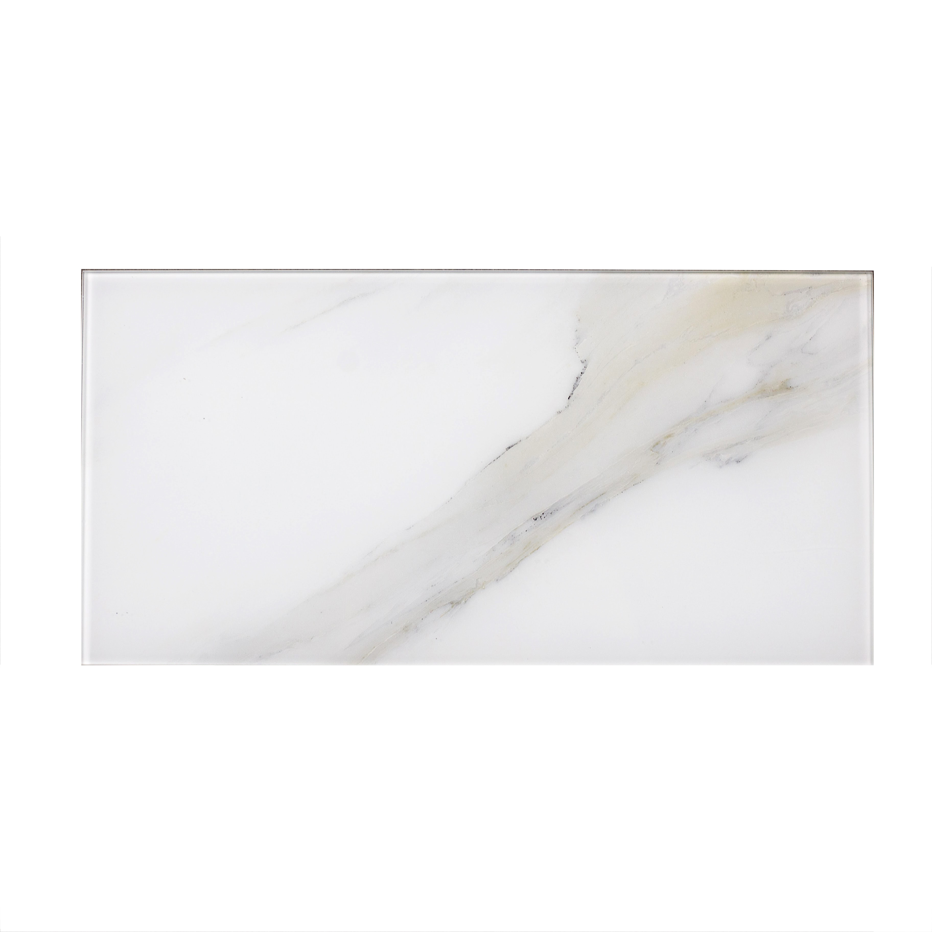 """Calacatta Gold Straight Edge Glossy / 8""""x16"""" / Flat Nature Collection 0"""