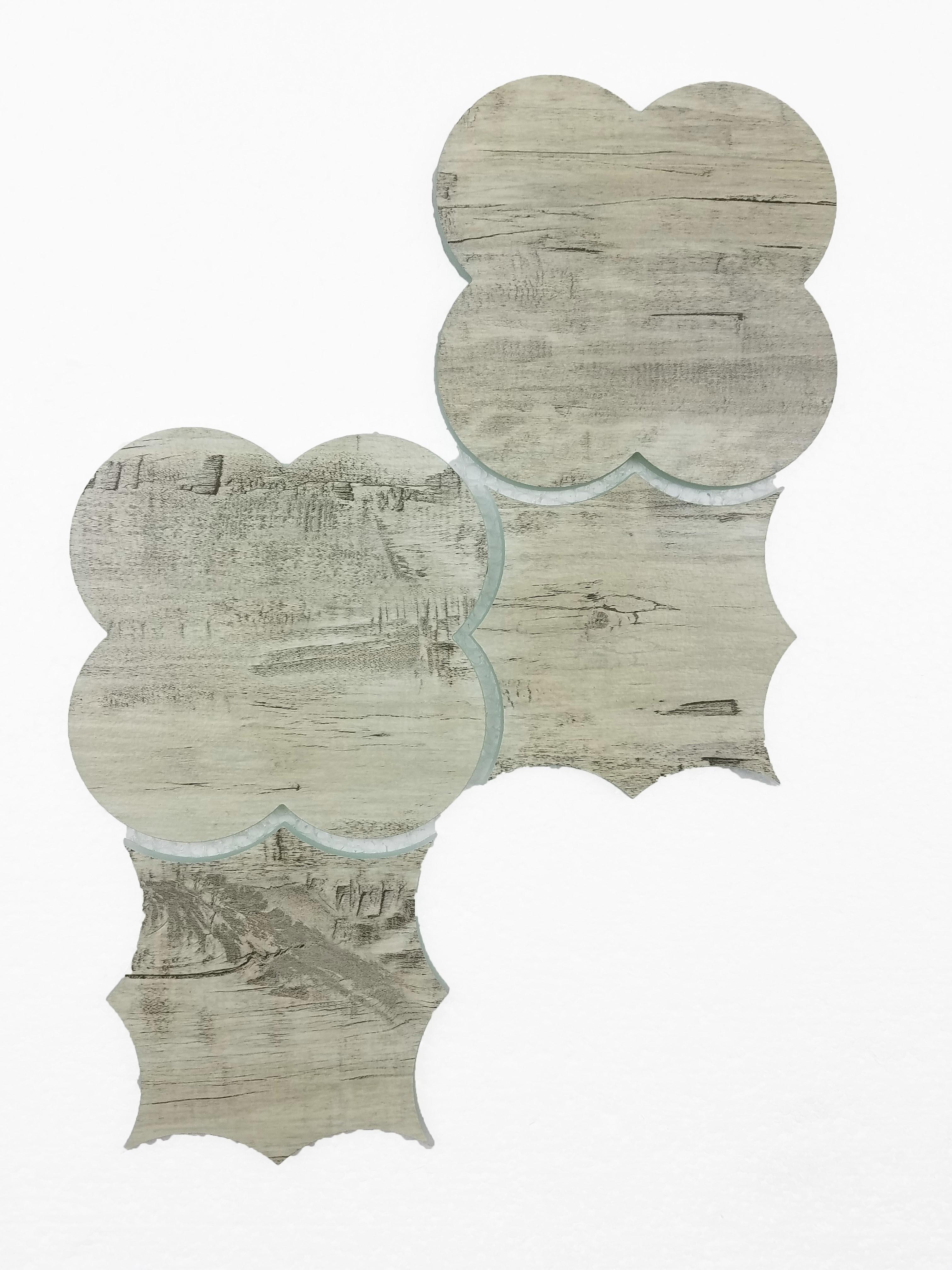 "Birchwood Gray Boom Bang Waterjet / 15""x9"" / Flat Nature Collection 0"