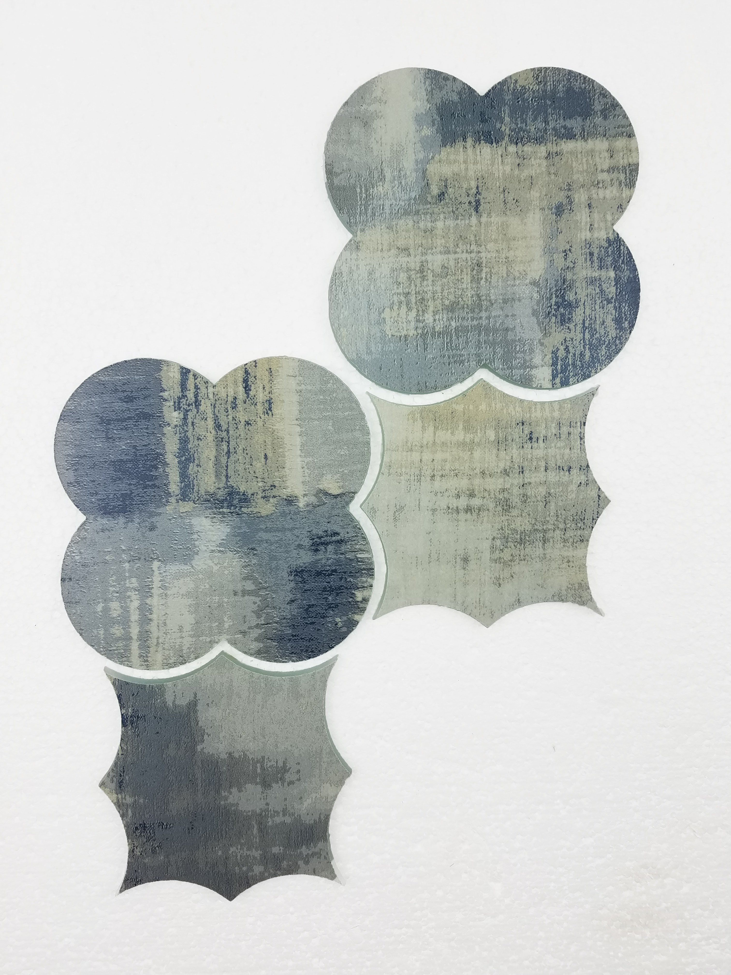 """Cement Blue Boom Bang Waterjet Glossy / 15""""x9"""" / Flat Nature Collection 0"""