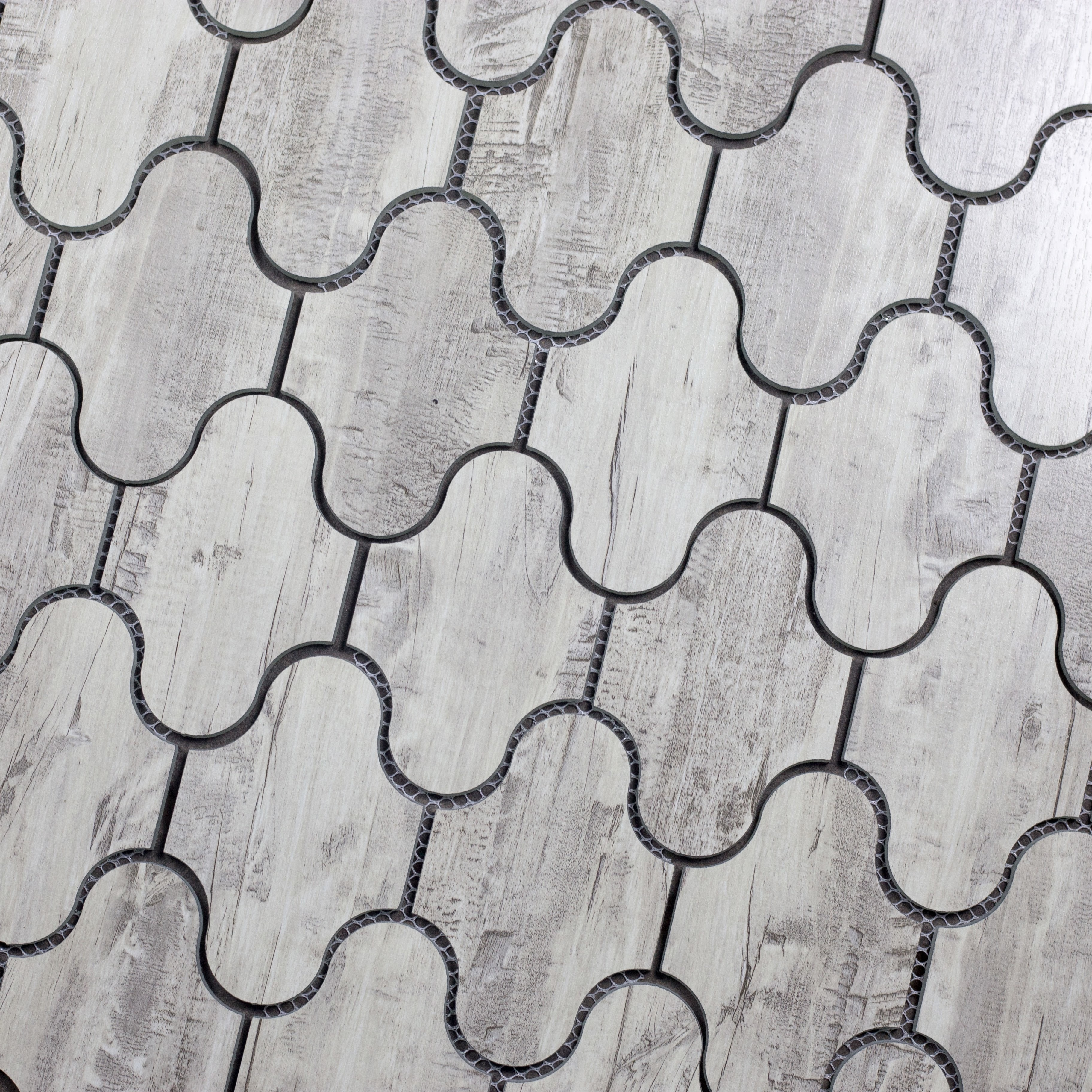 """Birchwood Gray Swag Waterjet / 12""""x9"""" / Flat Nature Collection 0"""