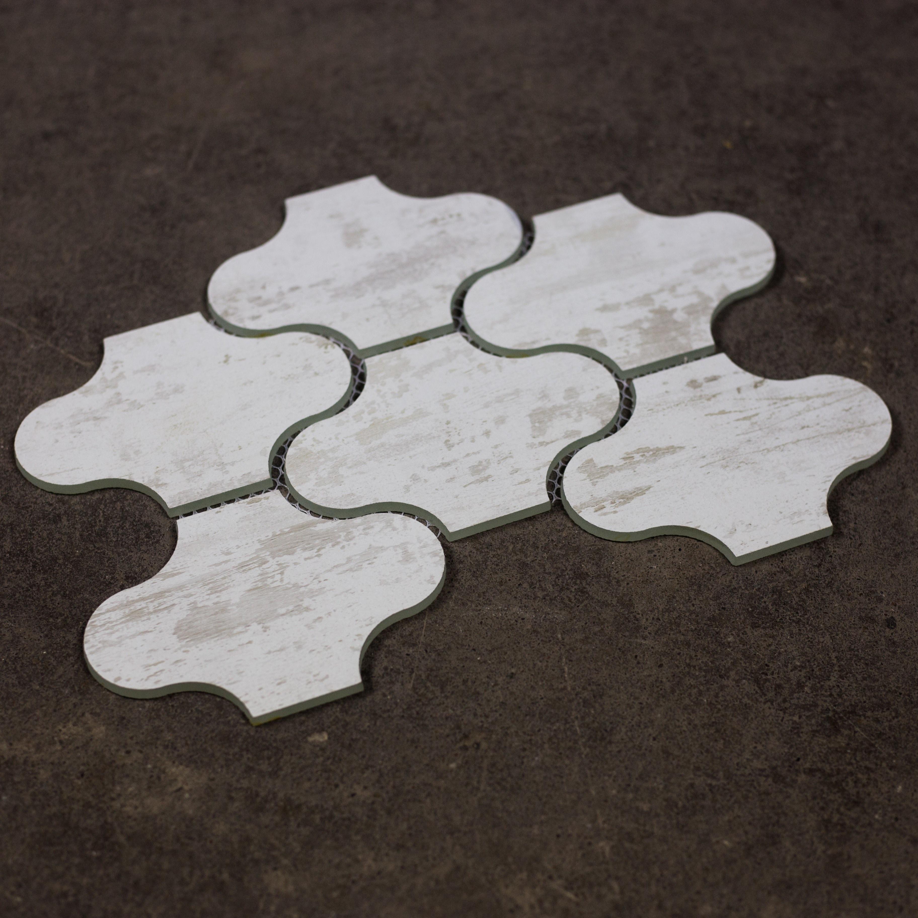 "Birchwood White Swag Waterjet / 12""x9"" / Flat Nature Collection 0"