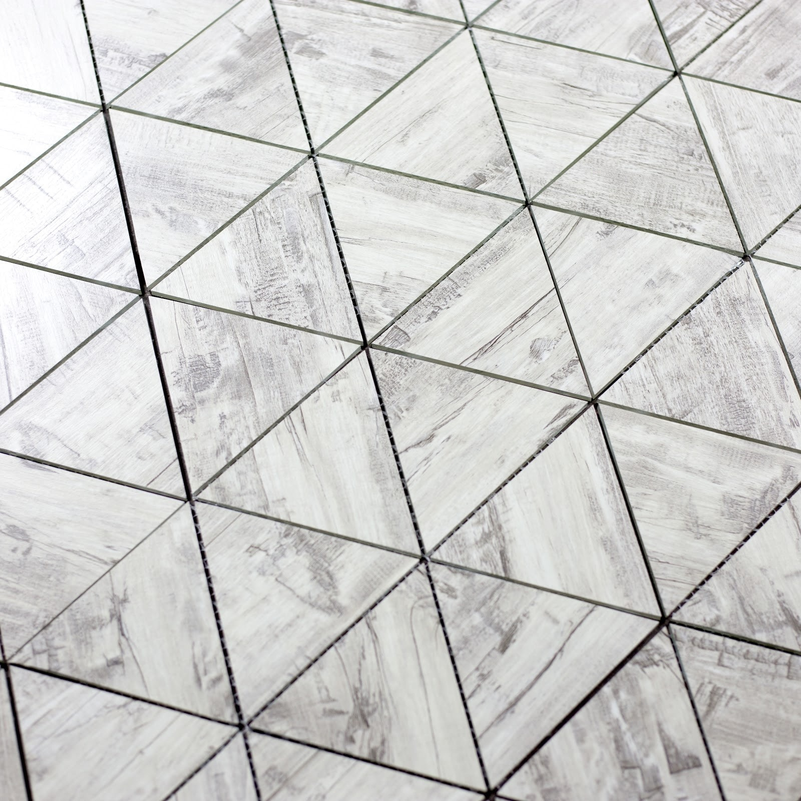 "Birchwood Gray Triangle Straight Edge / 11.625""x12"" / Flat Nature Collection 0"