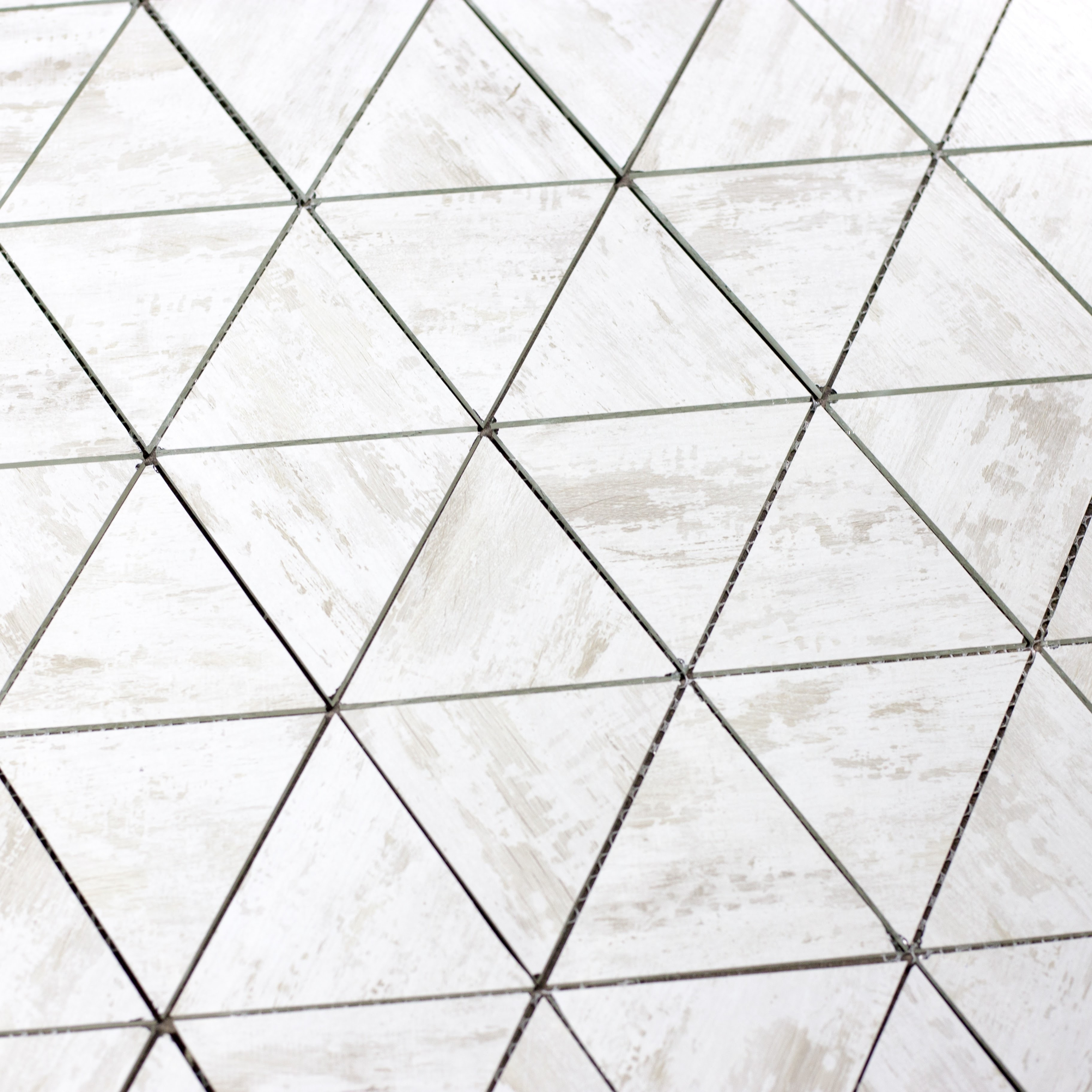 "Birchwood White Triangle Straight Edge / 11.625""x12"" / Flat Nature Collection 0"