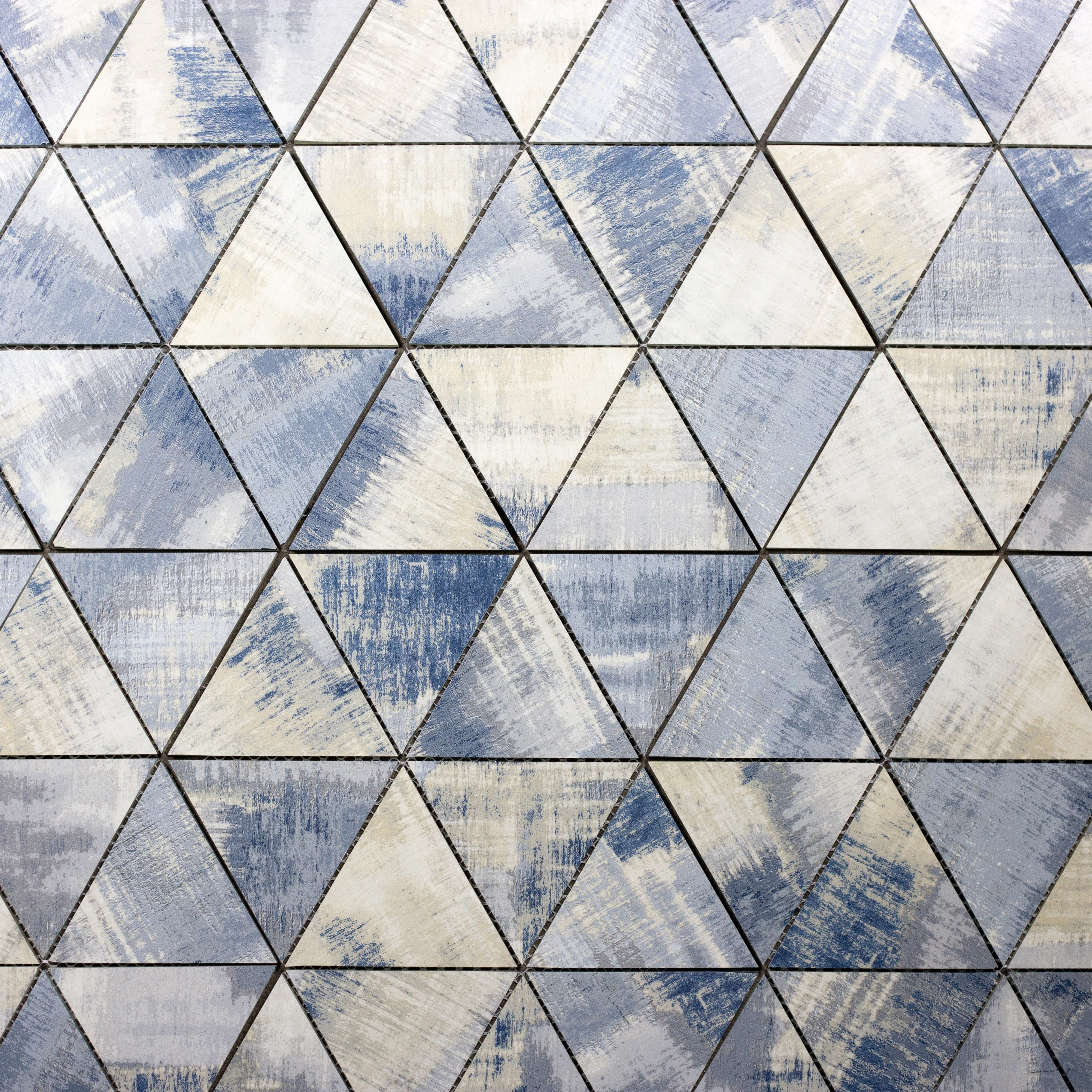 """Blue Cement Triangle Straight Edge / 11.625""""x12"""" / Flat Nature Collection 0"""