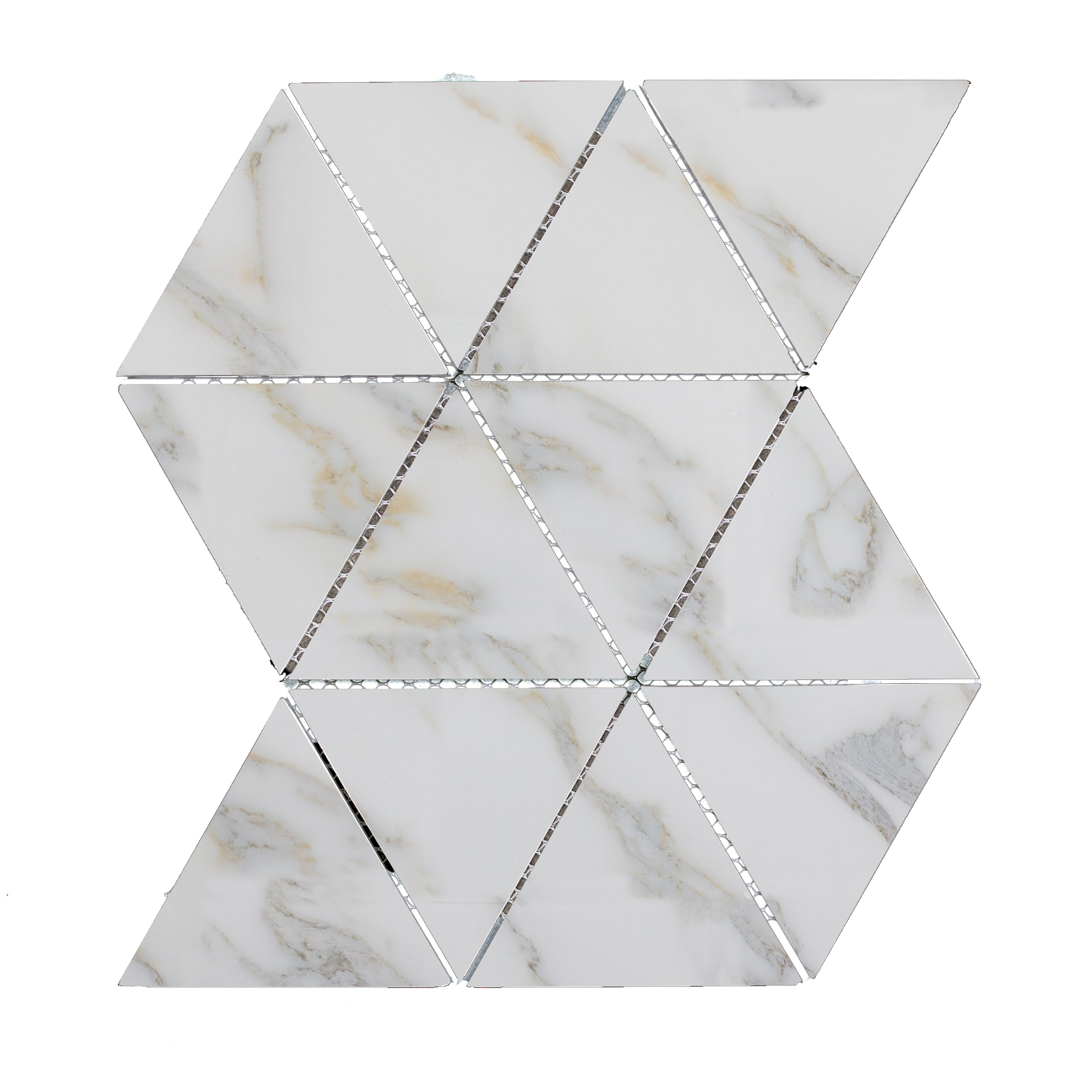 """Calacatta Gold Triangle Straight Edge / 11.625""""x12"""" / Flat Nature Collection 0"""