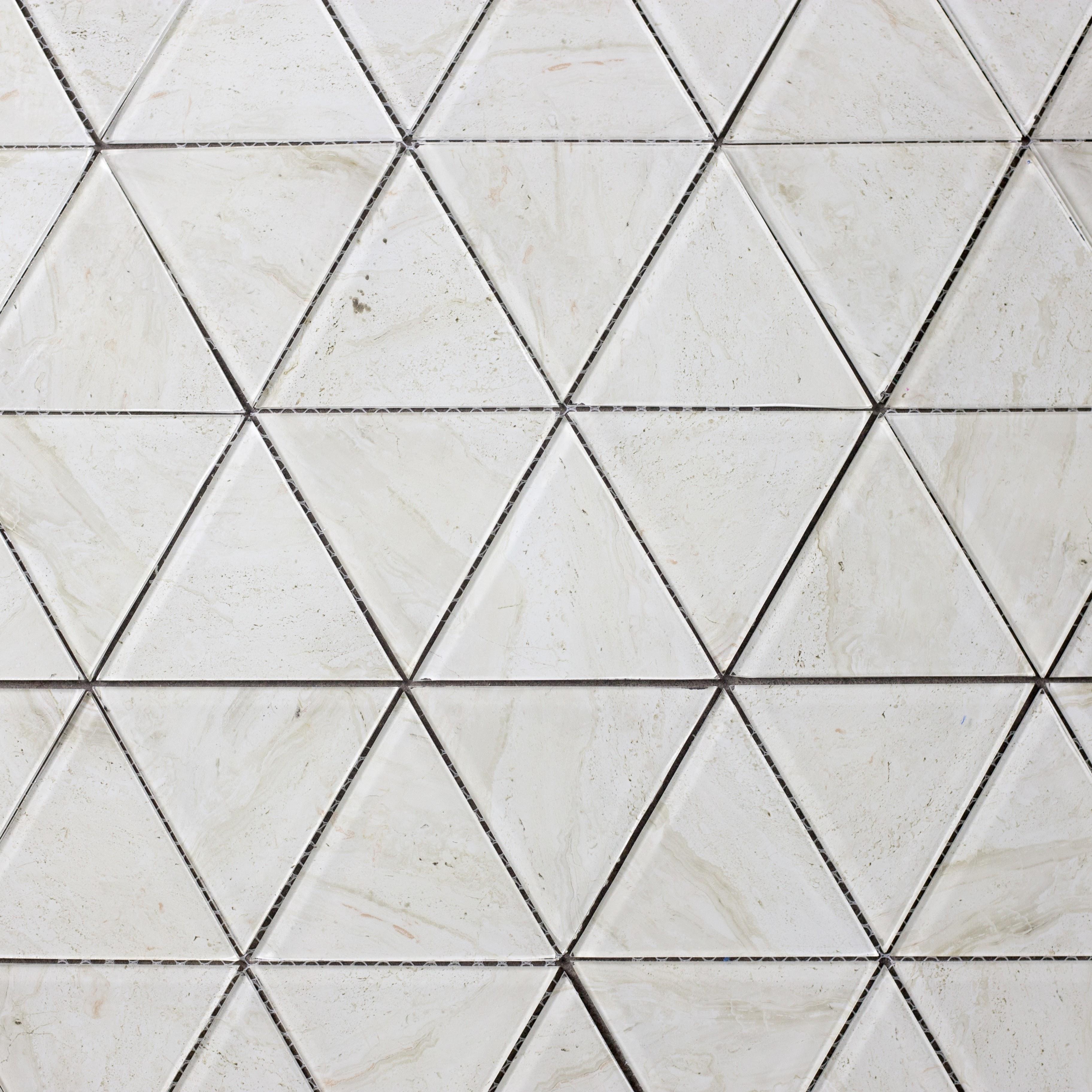 "Crema Marfil Triangle Straight Edge / 11.625""x12"" / Glossy Nature Collection 0"