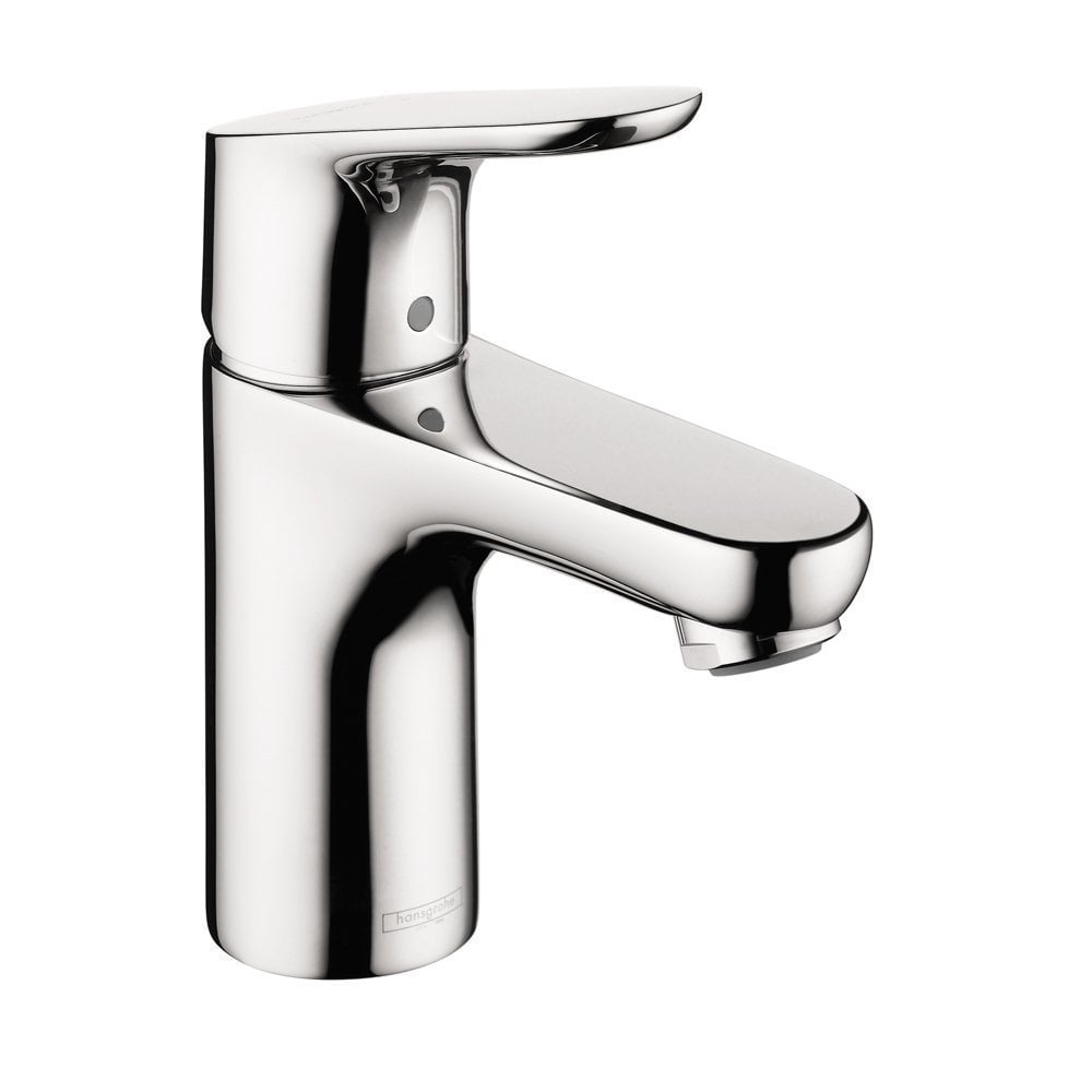hansgrohe focus 100 single hole bathroom faucet brushed nickel 4371000. Black Bedroom Furniture Sets. Home Design Ideas