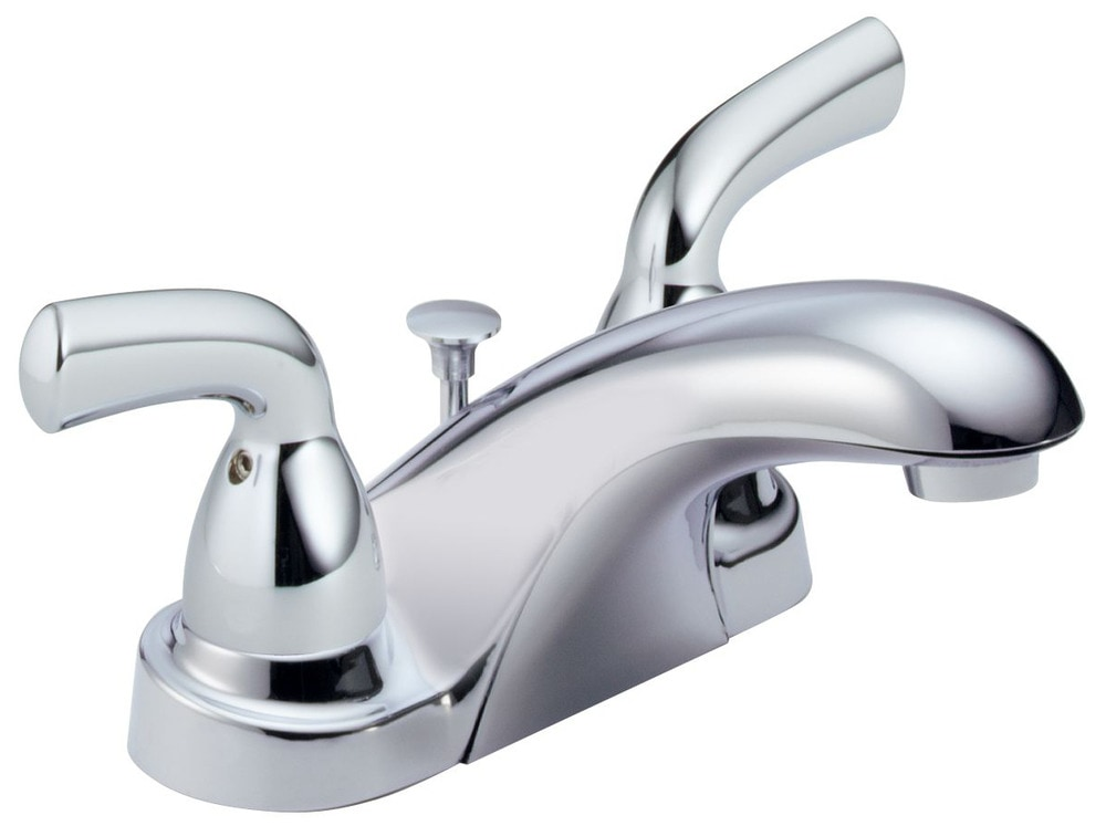 Delta Porter 4 In Centerset 2 Handle Bathroom Faucet With: Delta Foundations® Double Handle Centerset With Pop-Up