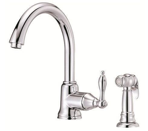 Danze Fairmont Kitchen Faucet With Sidespray And Ceramic Disc Valve Kitchen Faucet Chrome