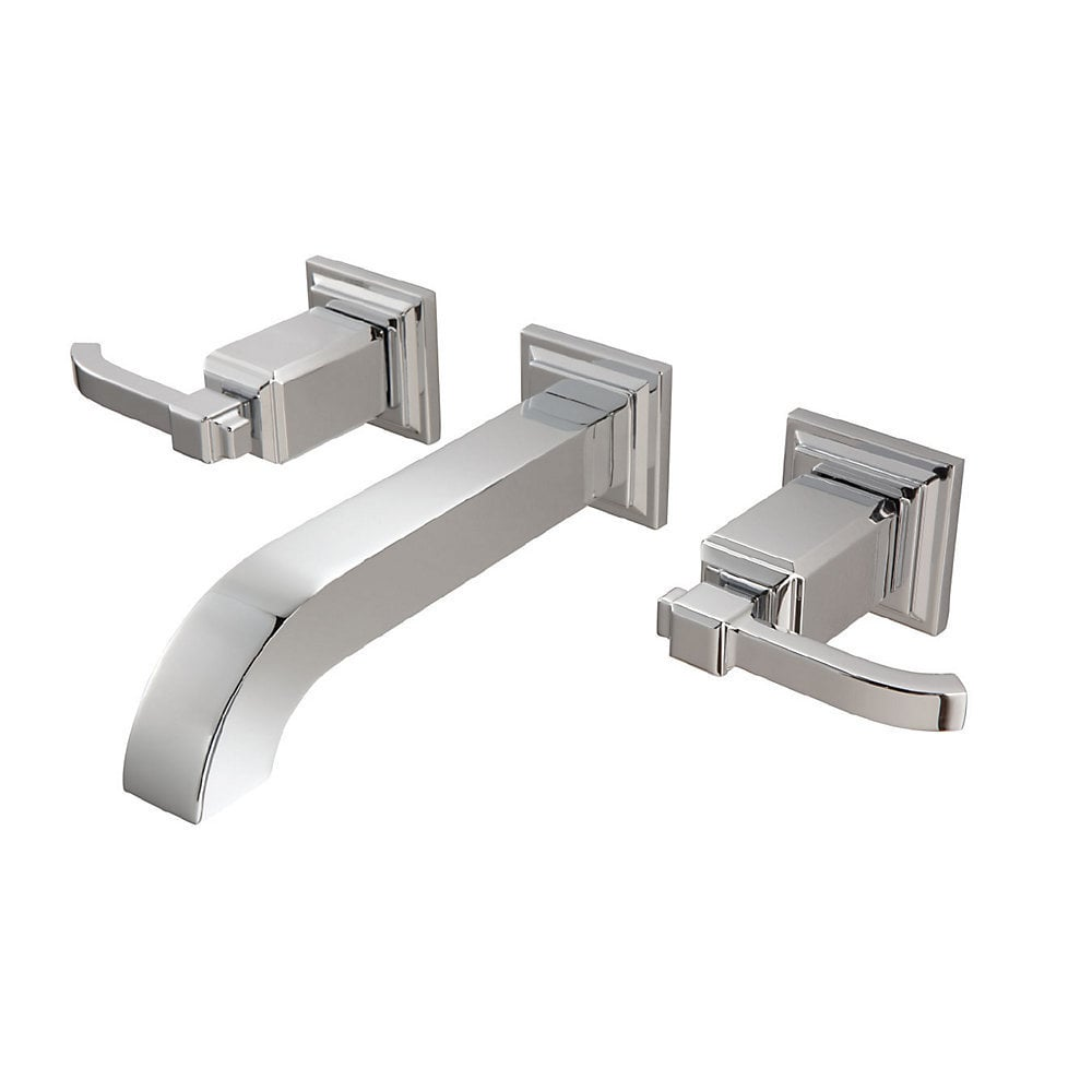 carnegie wall mounted with metal pop up and disc valve bathroom faucet