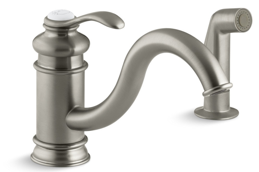 Kohler fairfax single handle with sidespray kitchen for Kitchen faucet recommendations