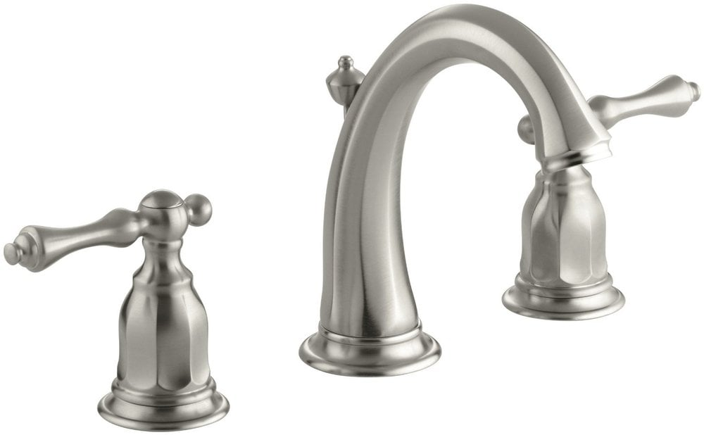 7 Faucet Finishes For Fabulous Bathrooms: Kohler Kelston® Double Handle Widespread With UltraGlide