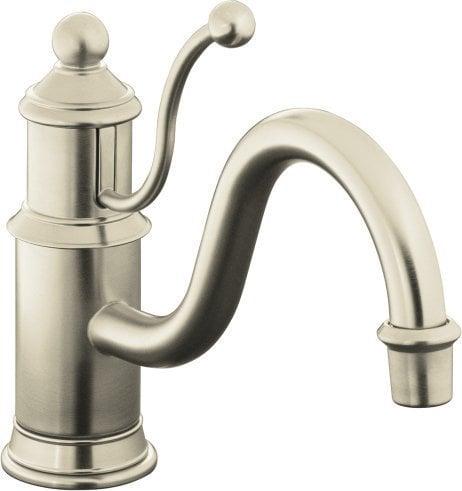 Kohler antique single handle with swivel spout kitchen for Kitchen faucet recommendations