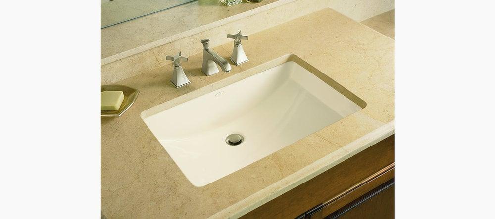 Kohler Ladena Undermount W Glazed Underside White Bathroom Sink K 2214 G 0