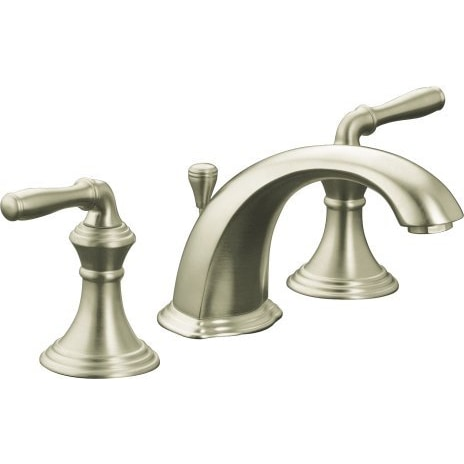 Kohler Devonshire Widespread With Ultraglide Valve And Pop Up Drain Bathroom Faucet Vibrant