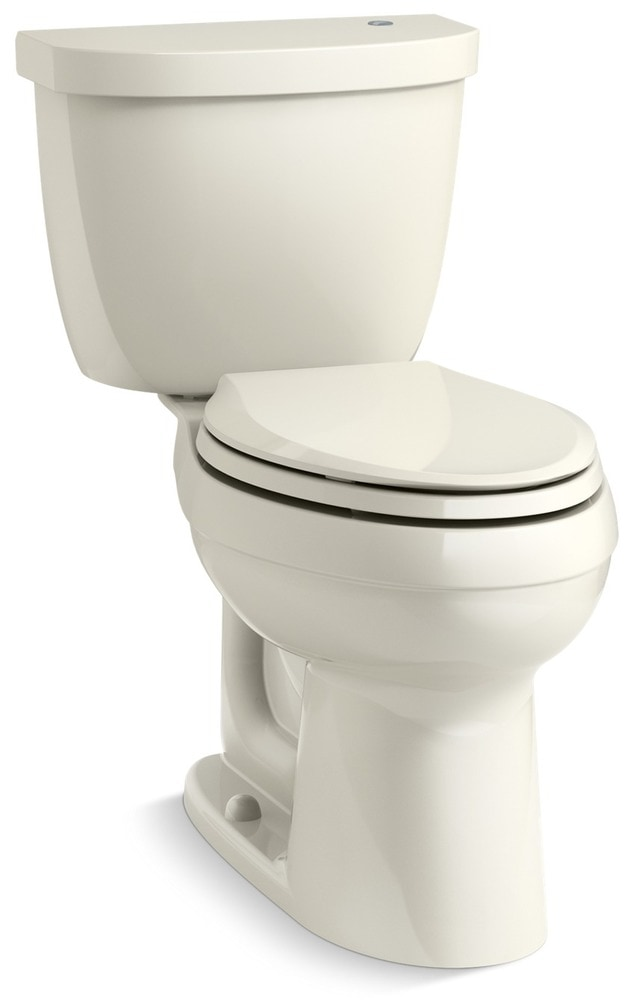 Kohler cimarron comfort height touchless two piece for Touchless toilet seat