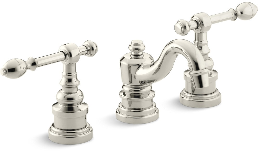Kohler Georges Brass Widespread With Ultra Glide Bathroom Faucet Polished Nickel Ii K 6811 4 Sn