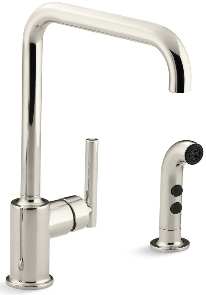 Kohler Purist High Arch With Side Spray Kitchen Faucet