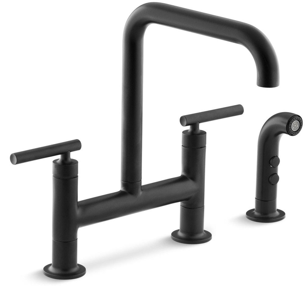 Kohler Black Faucet : ... Faucets All Products Kitchen Faucet / Matte Black / K-7548-4-BL