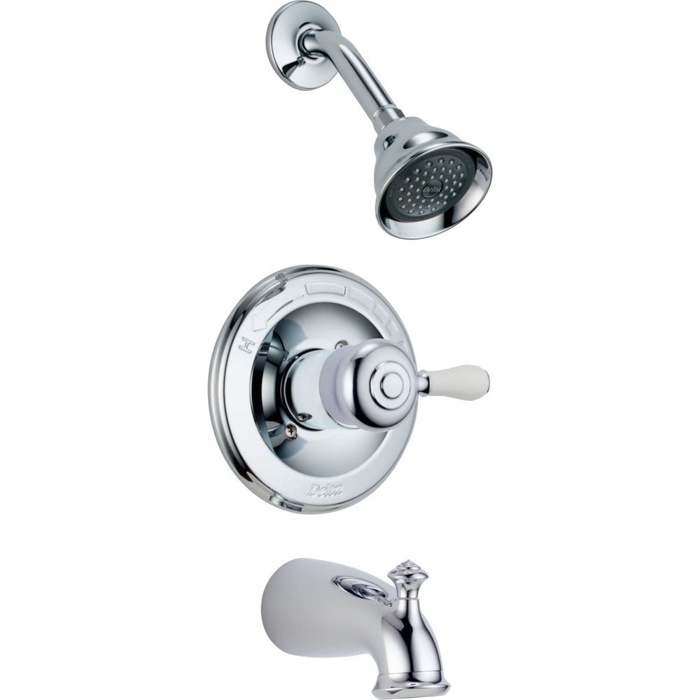 Delta leland monitor 14 series tub and shower trim only for Delta leland bathroom faucet repair