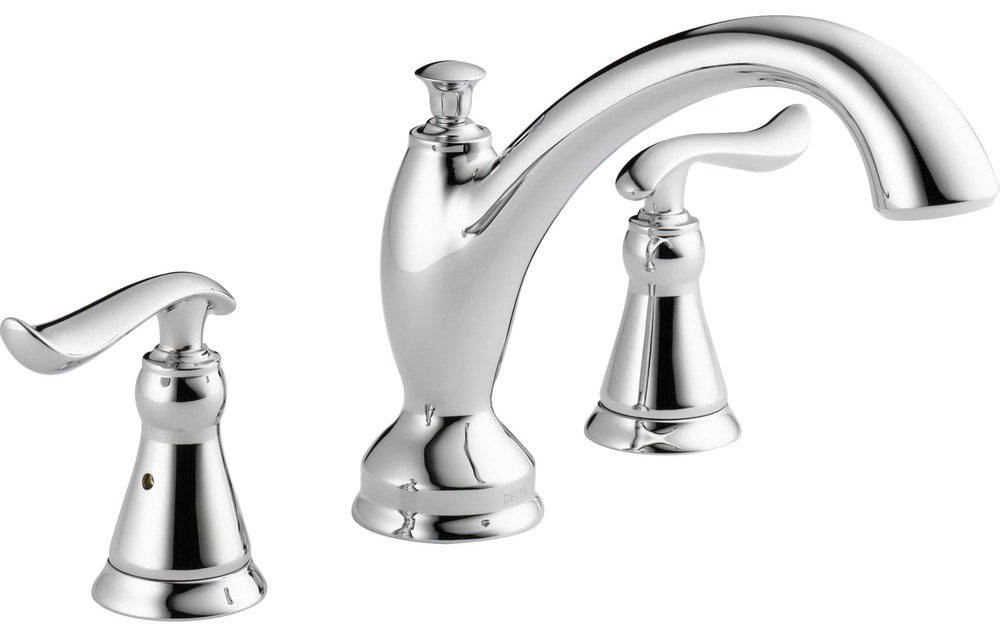 Delta Faucet B3596lf Windemere Polished Chrome Two Handle: Less Rough-In Kit Roman Tub