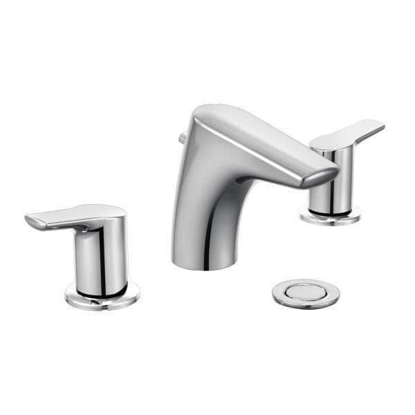 Moen Method Double Handle Widespread Low Arc Without Valve Bathroom Faucet Chrome T6820