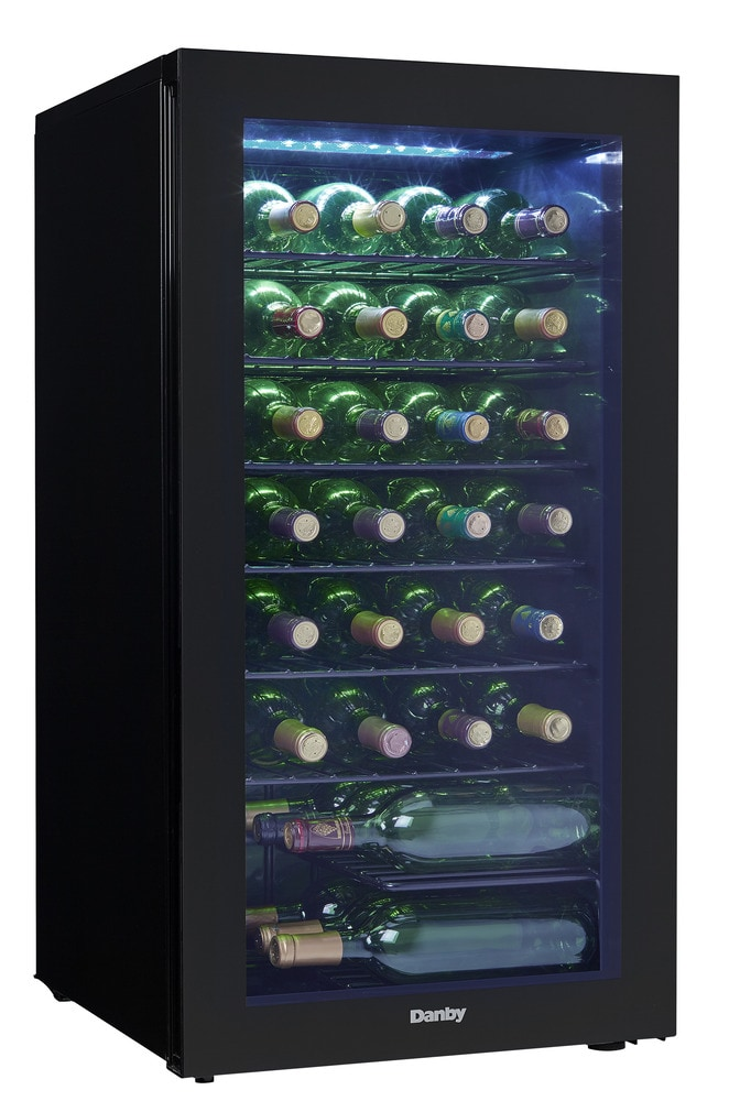 Wine Coolers danby free standing wine coolers wine cooler / 36 bottle / black