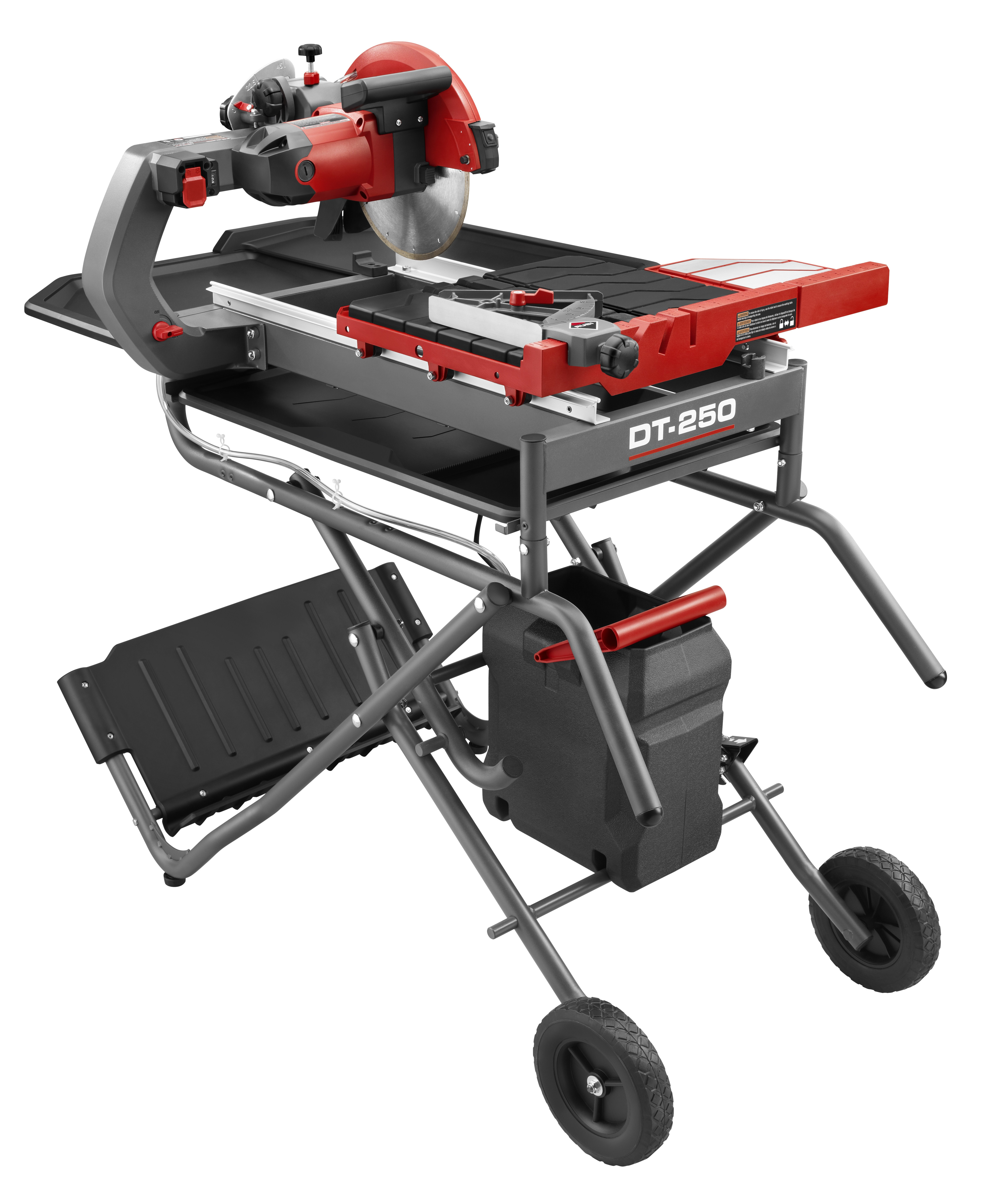 """DT 250 EVOLUTION (10"""" blade included) WITH STAND Wet Tile Saw 0"""