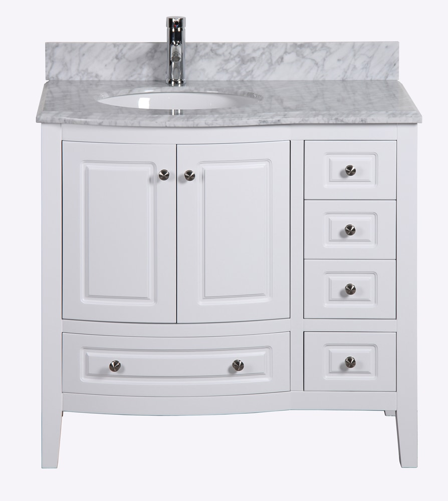 Golden Elite Cabinets Bathroom Vanities - Casablanca White ...